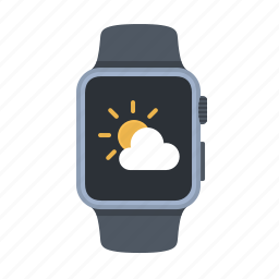 app, apple watch, device, smartwatch, timepiece, weather, weather app icon