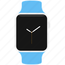 apple, blue, clock, sport, time, watch icon