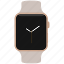 apple, clock, edition, gold, rose, time, watch icon