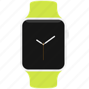 apple, clock, green, sport, time, watch icon