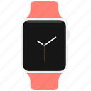 apple, clock, pink, sport, time, watch icon