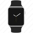 apple, silver, watch icon