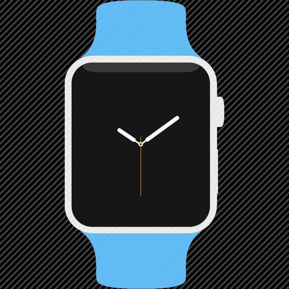 apple, blue, clock, sport, time, watch icon