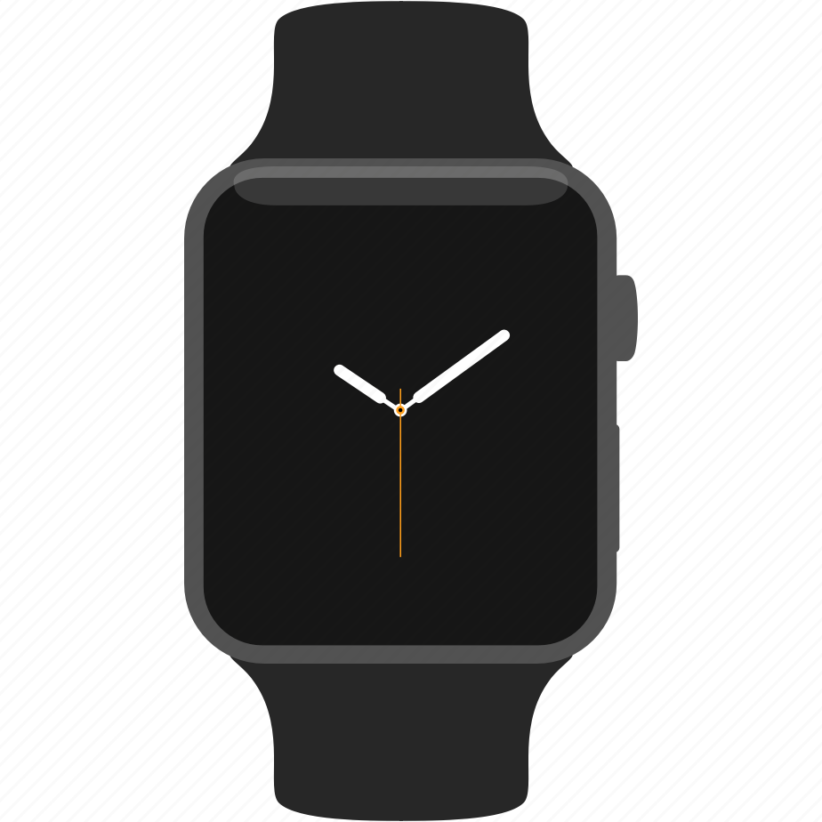 apple, clock, spacegray, sport, time, watch, wrist icon