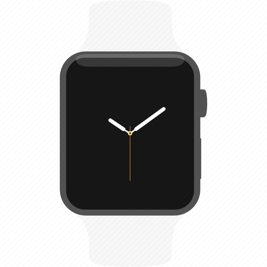 apple, gray, space, watch, white icon