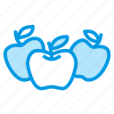 apples, food, fruit, harvest icon