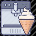 appliance, ice, cream, machine icon