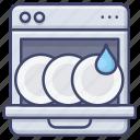 appliance, kitchen, dishwasher icon