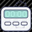 appliance, kitchen, timer, digital icon