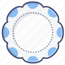 art, dinner, tableware, plate icon