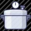 pressure, cooker, kitchen, pot icon