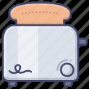 toast, kitchen, toaster, breakfast icon