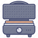 iron, waffle, kitchen, maker icon