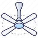 homedecor, fan, ceiling, indoor icon