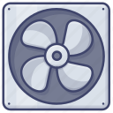 extractor, appliance, cooler, fan icon