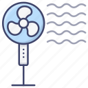 pedestal, fan, appliance, cooler icon