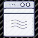 washing, laundry, appliance, machine icon