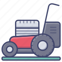 lawn, grass, appliance, mower icon