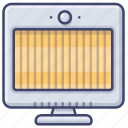 electrical, appliance, radiant, heater icon