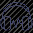 headset, headphone, earphone, music