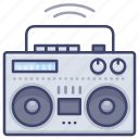 digital, music, player, boombox icon