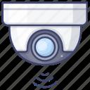 surveillance, cam, security, dome icon