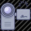 film, camcorder, video, camera icon