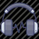 headset, music, earphone, headphone icon