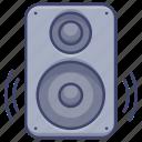 stereo, moniter, speaker, bass icon