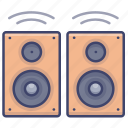bookshelf, stereo, moniter, speakers icon