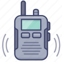 communication, radio, walkie, talkie icon