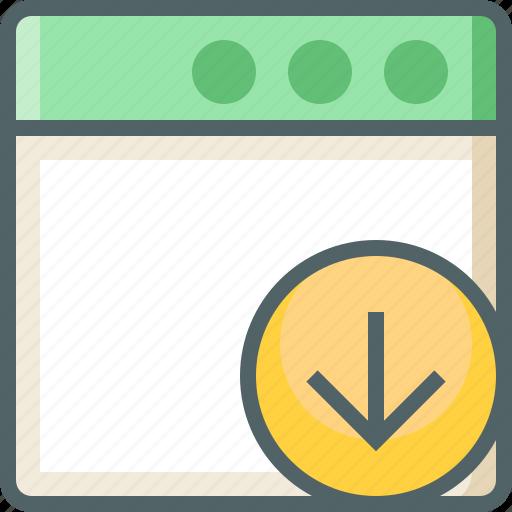 application, arrow, down icon