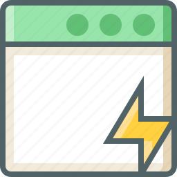 application, bolt icon