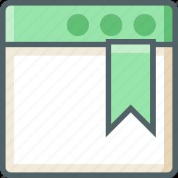 application, bookmark icon