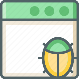 application, bug icon