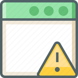 application, caution icon