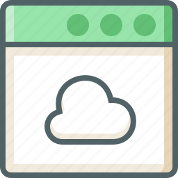 application, cloud icon