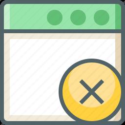 application, delete icon