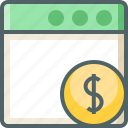 application, dollar icon
