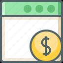 application, dollar icon