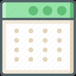 application, dot icon