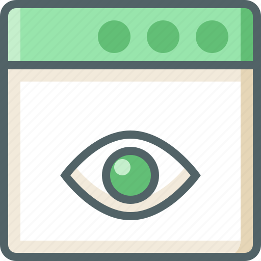application, eye icon