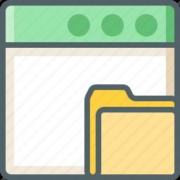 application, folder icon