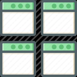application, four, screen icon