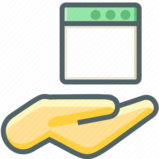 application, hand icon