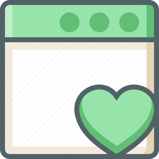 application, heart icon