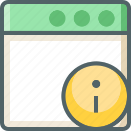 application, info icon