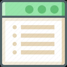 application, list icon