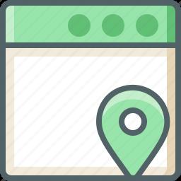 application, location icon