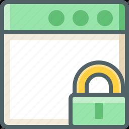 application, lock icon